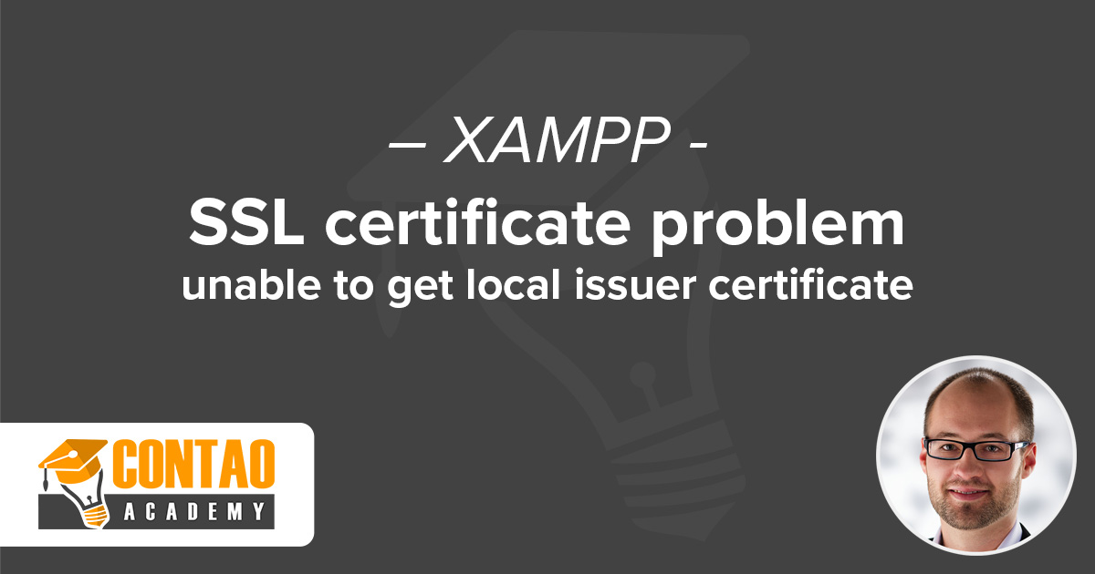SSL certificate problem: unable to get local issuer certificate ...